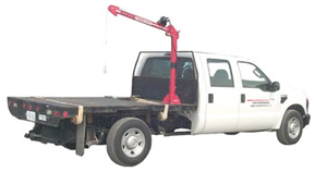 Electric winch crane truck