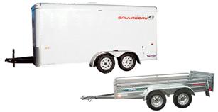 Remorque à VTT 4' x 6.5' trailer ouvert (hors route)